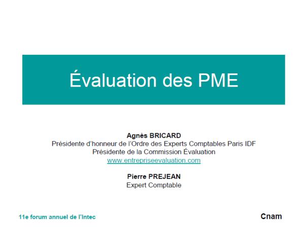 Evalution des PME