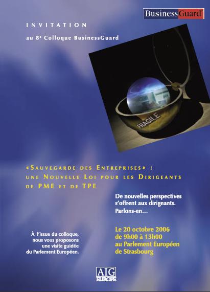 Invitation à la conférence au Parlement Européen de Strasbourg