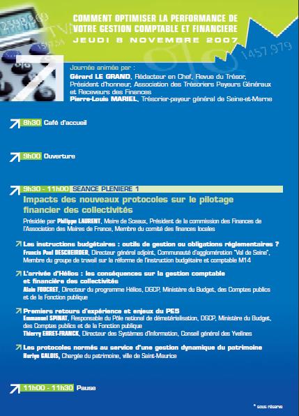 Programme et le bulletin d'inscription du Salon des Collectivités Locales