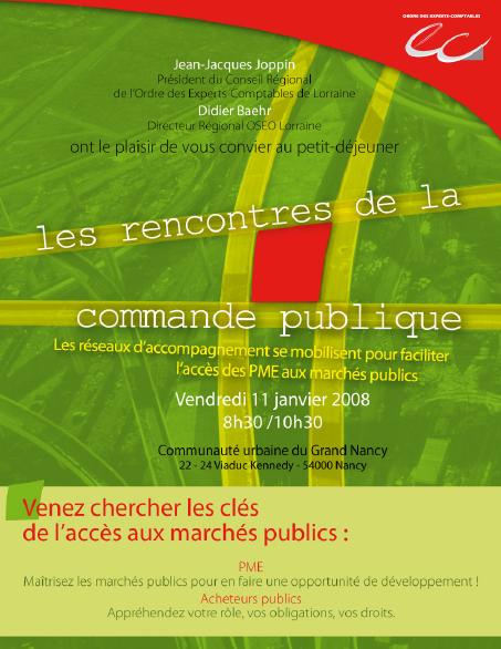 Invitation aux Rencontres de la commande publique de janvier 2008