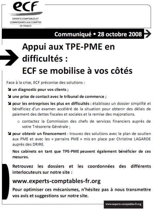 Appui aux TPE-PME en difficultés : ECF se mobilise à vos côtés