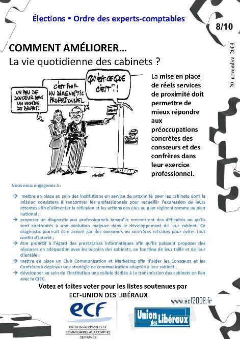 Comment améliorer la vie quotidienne des cabinets ? (programme ECF, 8/10)