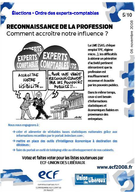 Reconnaissance de la profession comment accroître notre influence (programme ECF, 5/10)
