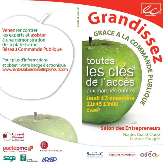 Invitation au salon des Entrepreneurs à Nantes