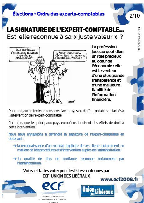 La signature de l'expert-comptable... Est-elle reconnue à sa « juste valeur » ? (programme ECF, 2/10)