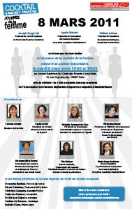 8 mars 2011, journée de la Femme : cocktail organisé au Conseil Supérieur de l'Ordre des Experts-Comptables