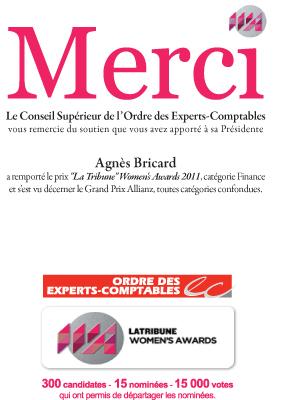 Womens Award : Agnès Bricard, Femme de l'année !