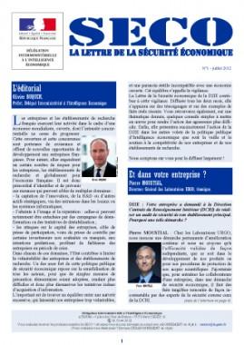 SECO, lettre de la D2IE , n°1, juillet 2012 – Signature d'un partenariat entre la D2IE et le CSOEC