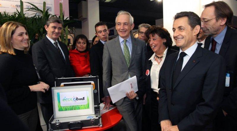 Agnès Bricard reçoit le Président de la République